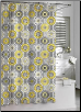Urban Tiles Shower Curtain - Yellow