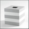Cabana Tissue Box in Grey