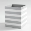 Cabana Wastebasket in Grey