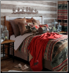 Backwoods 7 pc. Queen Bedding Set w/Wyoming Euro Shams