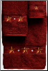 Barn Star 3 pc. Towel Set - Garnet
