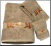 Boots & Hat 3 pc. Towel Set - Linen