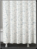 Foglia Clearwater Blue Shower Curtain