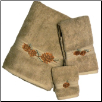 Pinecone Branch Towel Set - Linen