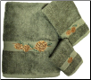 Pinecone Branch 3 pc Towel Set - Moss