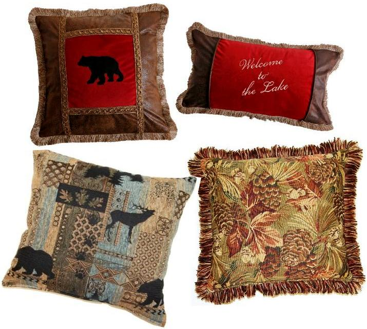 Pillows Decorative Throw Lodge Rustic Creative Home Furnishings Dakotah Kellsson ...
