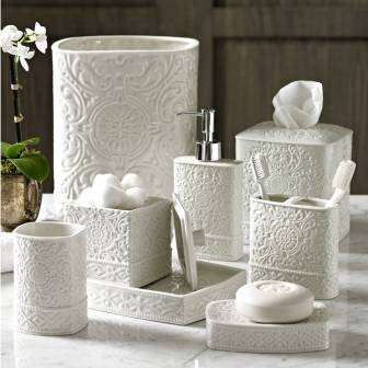Damask Bath Accessories By Katex