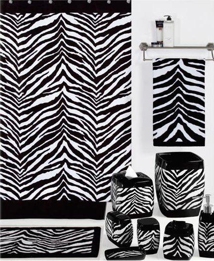 Zebra bath accessories creative bath kellsson home for Zebra bathroom accessories